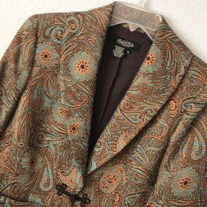Peck & Peck paisley style jacket blazer